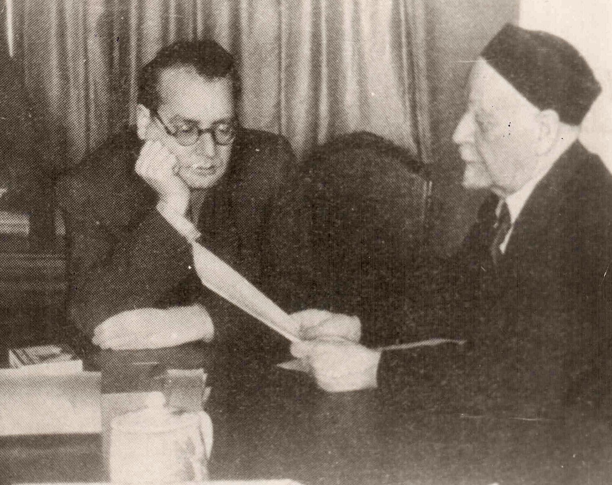 Кржижановский и Казакевич. Москва, 1951 год. <br>